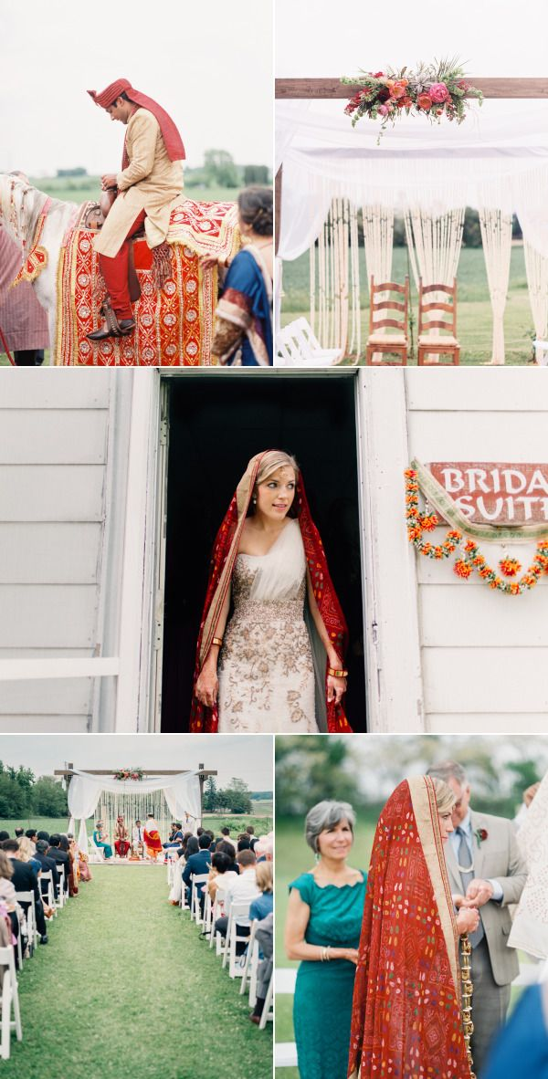 Rustic Indian Fusion Wedding in Wisconsin  – Style Me Pretty