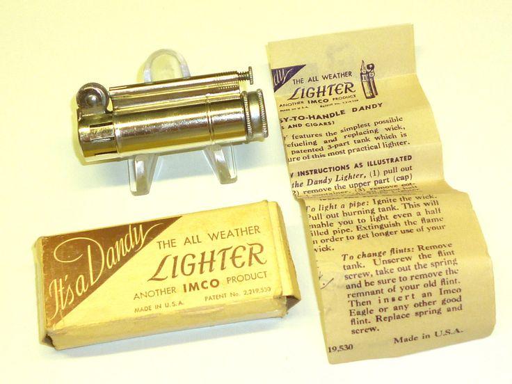 IMCO DANDY LIGHTER (JULIUS FRANZ MEISTER) - STURMFEUERZEUG - OVP - 1947 - U.S.A. Sammeln & Seltenes:Tabak, Feuerzeuge & Pfeifen:Feuerzeuge:Alt (vor 1970)