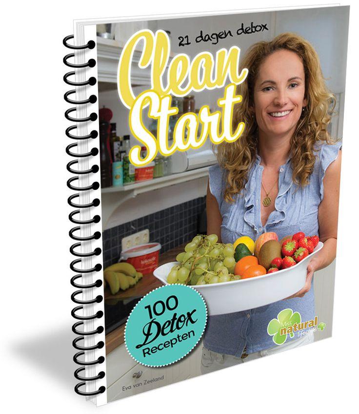 Clean Start e-book met 100 Detox Recepten. Je ontvangt bij jouw 21 dagen detox dit handige e-book met daarin 100 Detox Recepten t.w.v. €17,95