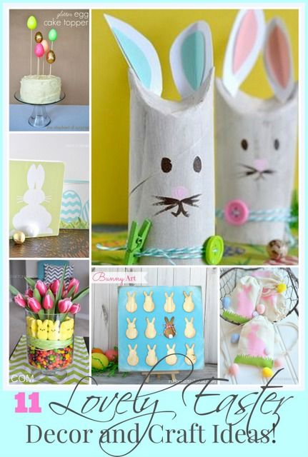 11 Lovely Easter Decor and Craft Ideas!  #eastercrafts