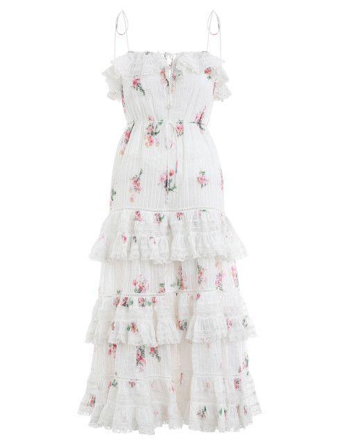 ee1a2054cd Zimmermann Heathers Pintuck Long Dress. Product Image.