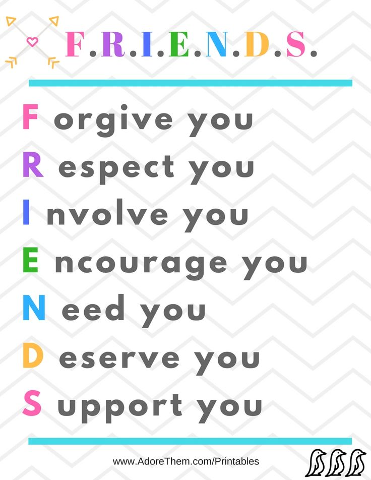 Friends - Free Printable #friends #friendship