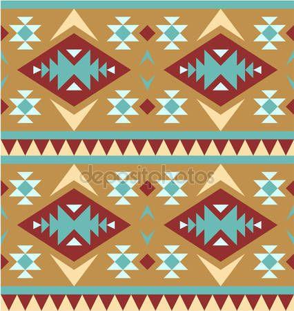 Herunterladen - Nahtlose Muster im Navajo-Stil #4 — Stockillustration #11778624