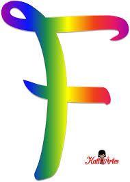 Resultado de imagen para letras de arco iris