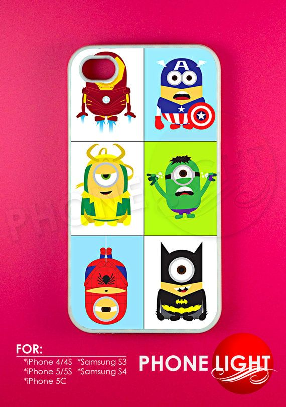 Minion Parody Avanger Phone Case  Rubber and Plastic by PHONELIGHT, $13.99