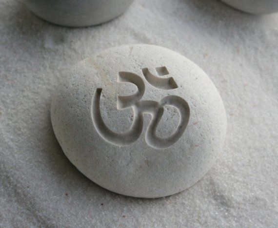 omIt Was, Inspiration, Decor Paperweight, First Tattoo, White Stones, Beach Meditation, Home Decor, Inner Peace, Om Stones