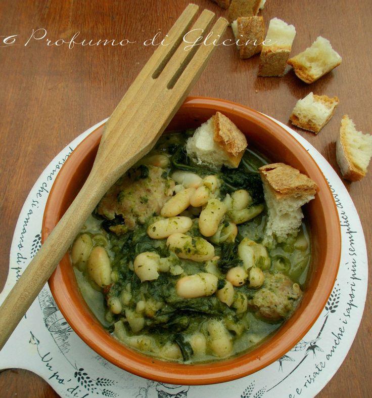 Fagioli con verdura e salsiccia - Zuppa semplice