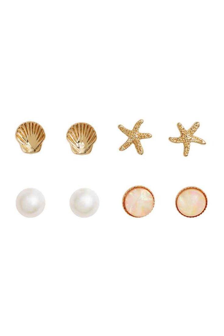 4 Pairs Earrings