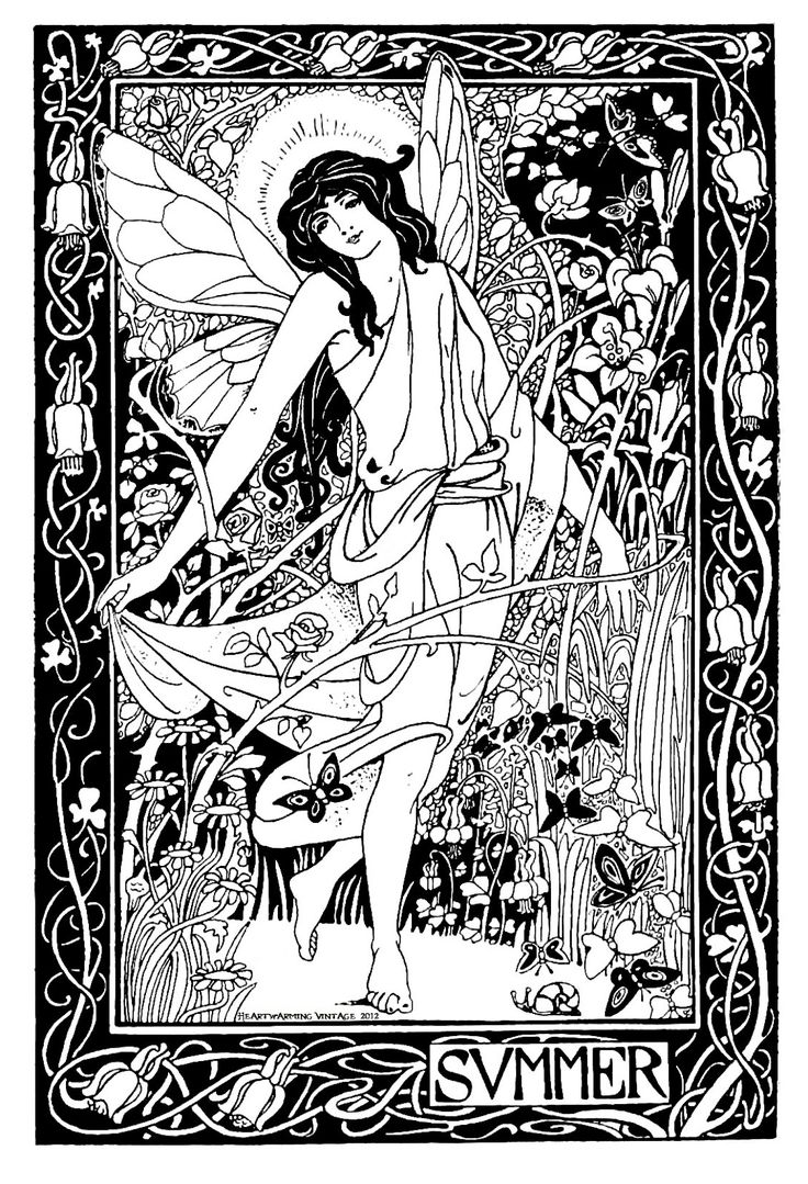 Free whimsical coloring pages for adults - Wiccan Coloring Pages Vintage Summer Lady Printable And Great New Samples