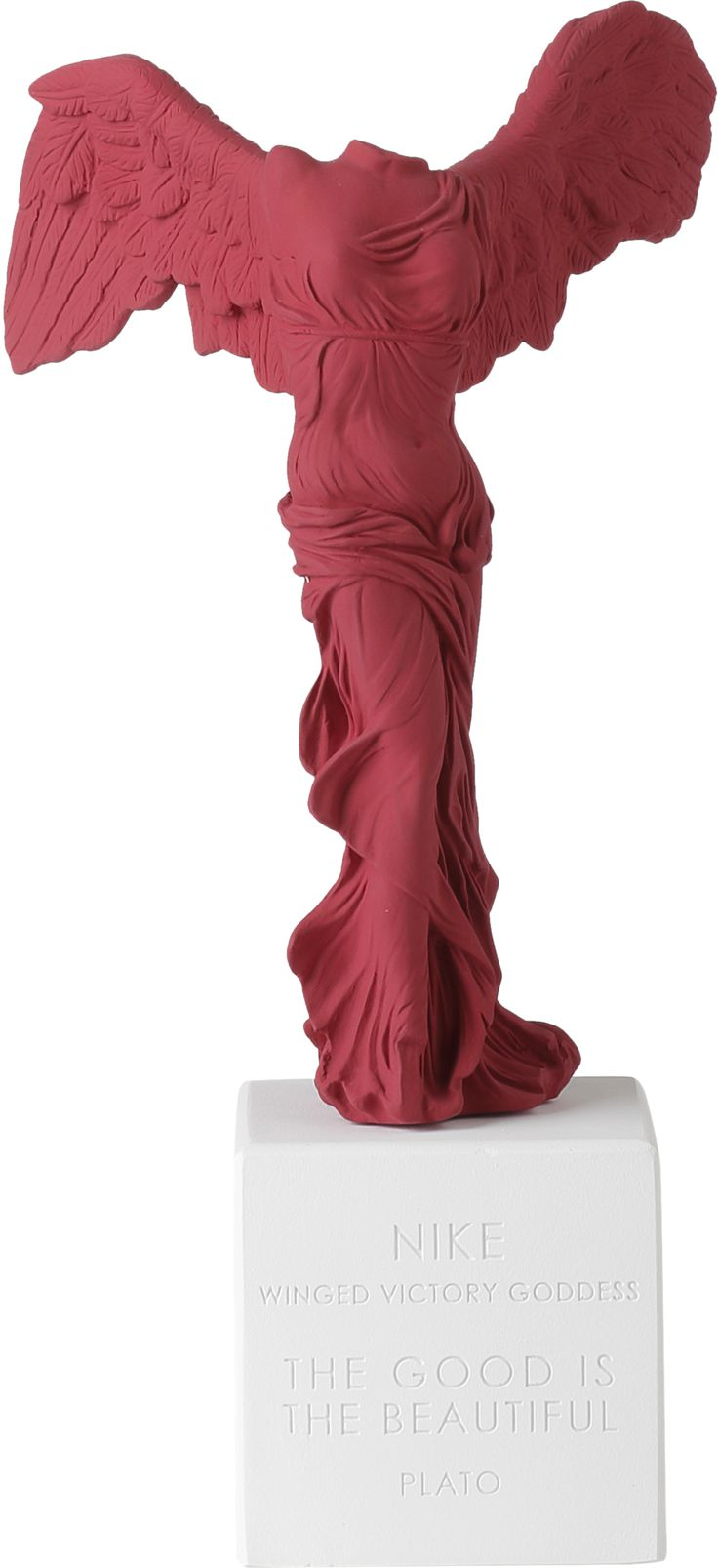 Winged Nike of Samothrace maroon
