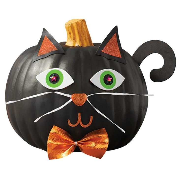 Halloween Cat Pumpkin Decorating Kit - Hyde and Eek! Boutique, Black