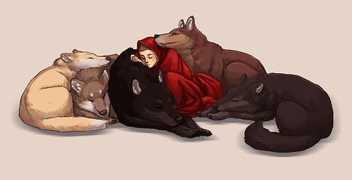 Okay so it looks like the first wolf is Erica, the second one underneath her is Isaac, the black one is Derek, the one next to Stiles on the right is Scott and the last one is Boyd