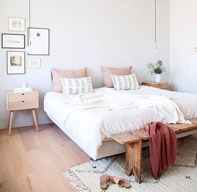Paint Color For Bedroom White With Light Wood Accents And Muted Pink Tones