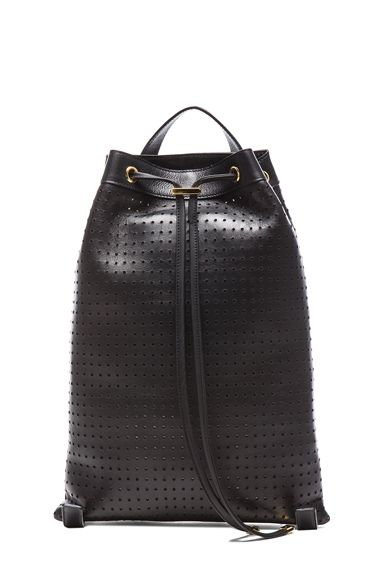 Marni Lamb Leather Backpack in Coal