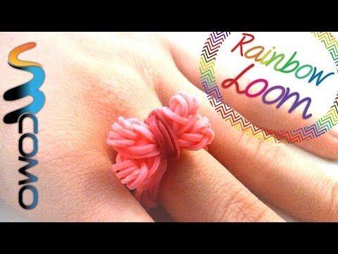 Rainbow Loom - Anel de Laço ( Com dois Garfos )