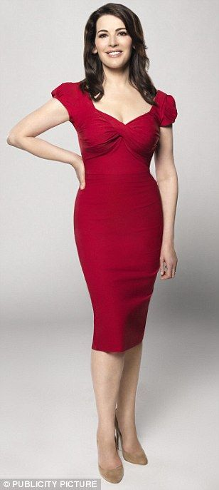 Nigella Lawson in the red Nigella Dress http://www.saintbustier.com/red-nigella-dress.html
