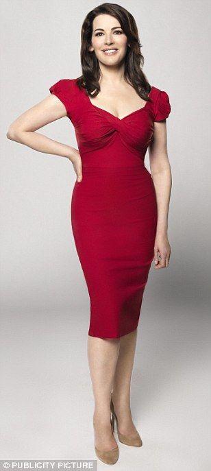 Nigella Lawson in the red Nigella Dress http://www.saintbustier.com/red-nigella-dress.html