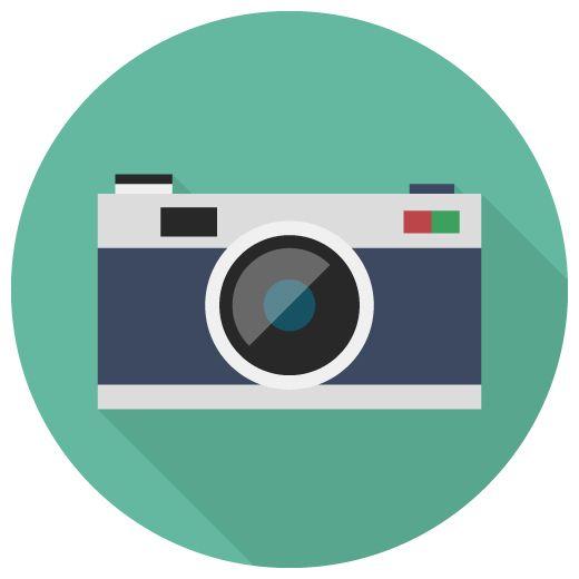 カメラのフラットアイコン