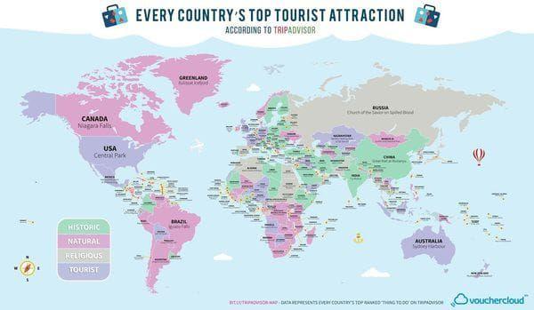 Eligieron la máxima atracción de cada país: cuál es la argentina - Infobae