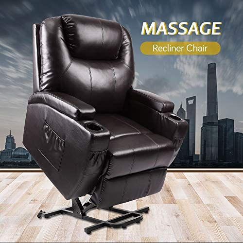 Vosson Recliner Power Lift Chair Pu Leather Recliner Massage Chair