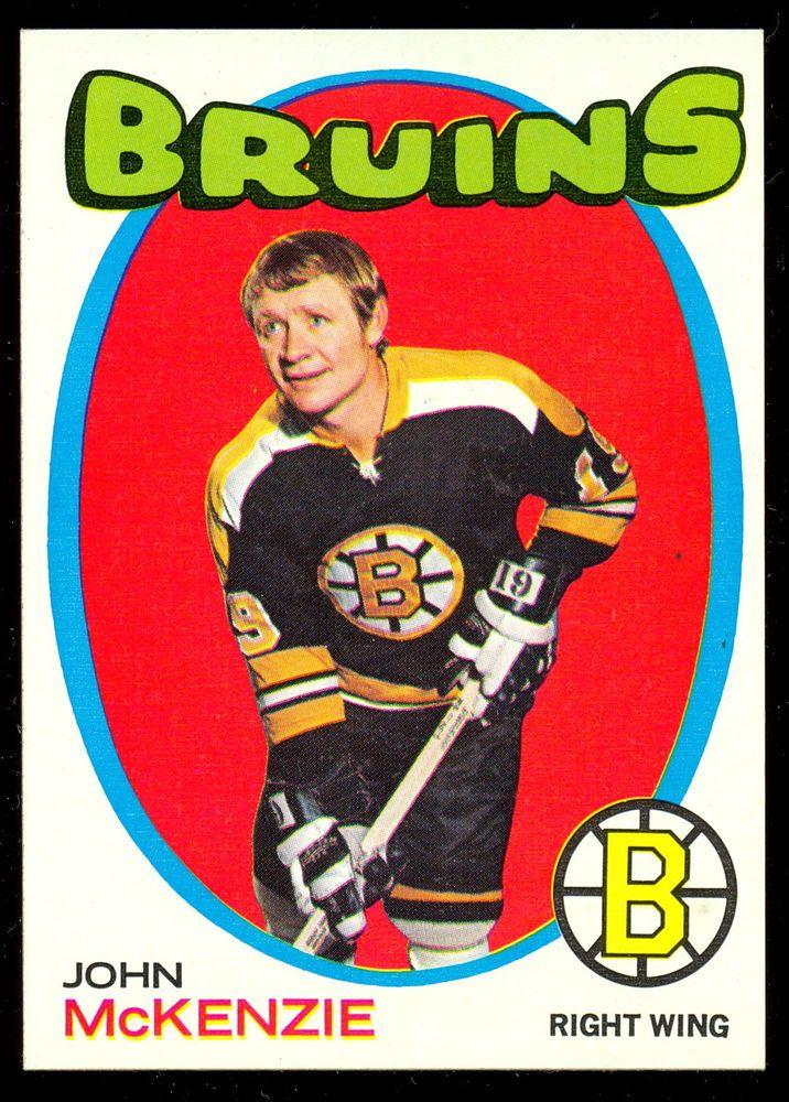 1971 72 TOPPS HOCKEY #82 JOHN MCKENZIE NM BOSTON BRUINS FREE SHIP TO USA #BostonBruins