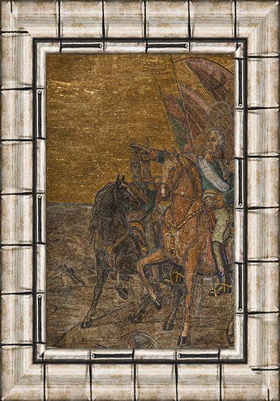 Мозаика «Бородинское сражение». 1951. Смальта, мрамор, мозаика