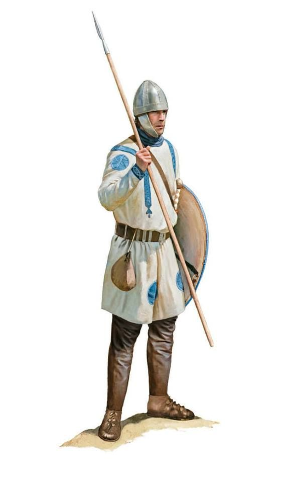 Roman soldiers daily uniform from around the early 4th Century CE depicted by Tom Croft