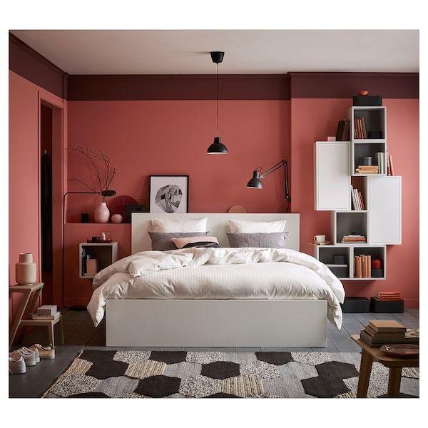 Malm Bettgestell Hoch Mit 4 Schubladen Weiss Lonset Ikea Deutschland In 2020 Malm Bed Frame High Bed Frame Malm Bed