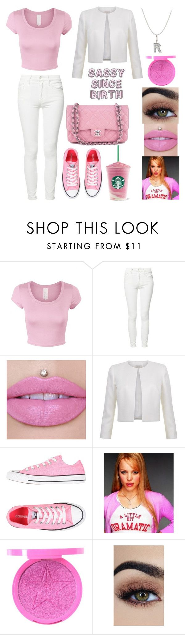 """Regina George"" by leslie-is-a-turtle ❤ liked on Polyvore featuring Mother, Converse and Chanel"