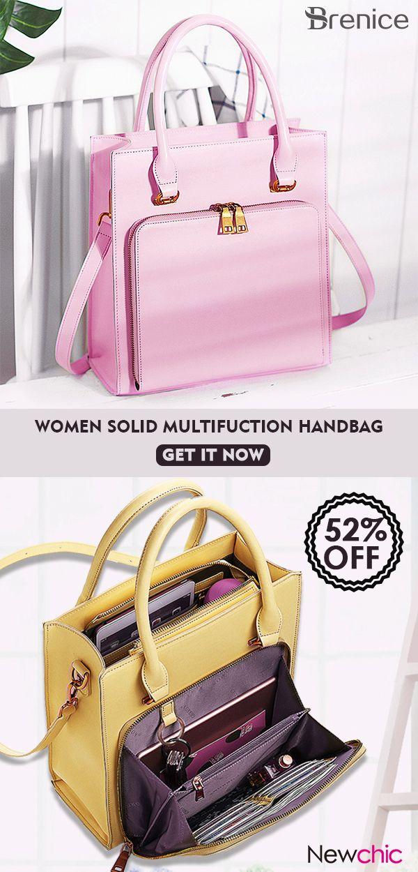 287d962cb25 Women Solid Multifunction Handbag Work Crossbody Bag  bags  handbags  work   multifunction  trendy  fashion
