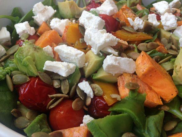 I Love Health | Zoete aardappel salade met avocado | http://www.ilovehealth.nl