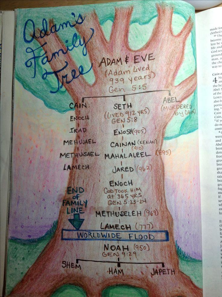 Adam's family tree Genesis 5
