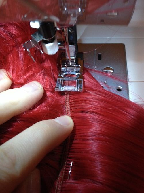 How to Sew a Weft into a Wig using a Sewing Machine