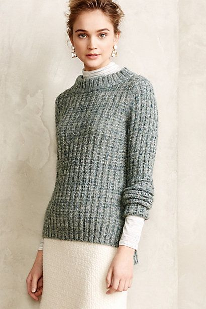 Waffle Stitch Pullover #anthropologie