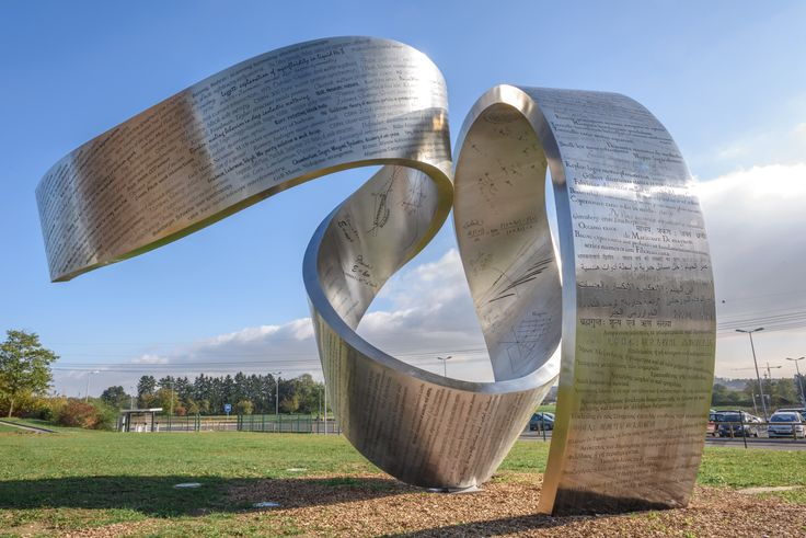 """Wandering the immeasurable"" sculpture (CERN)"