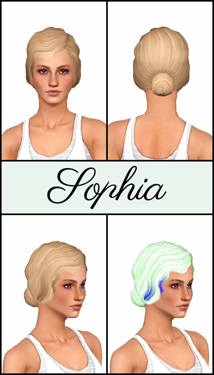 Mod The Sims - Disentangled Part 1 - 26 De-Accessorized, Retextured, & Fixed…