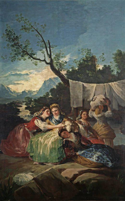 """Francisco de Goya. """"Las lavanderas"""" (1777 - 1780)"""