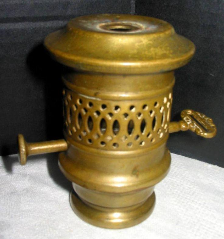 166 best antique vintage lamp parts images on pinterest vintage atq vintage solid brass electric lamp socket holder riser filler style parts aloadofball Choice Image