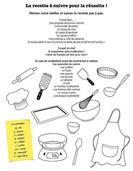 Autour de la gastronomie vocabulaire de base recettes et cuisine pour la classe de fle - Vocabulaire de la cuisine ...