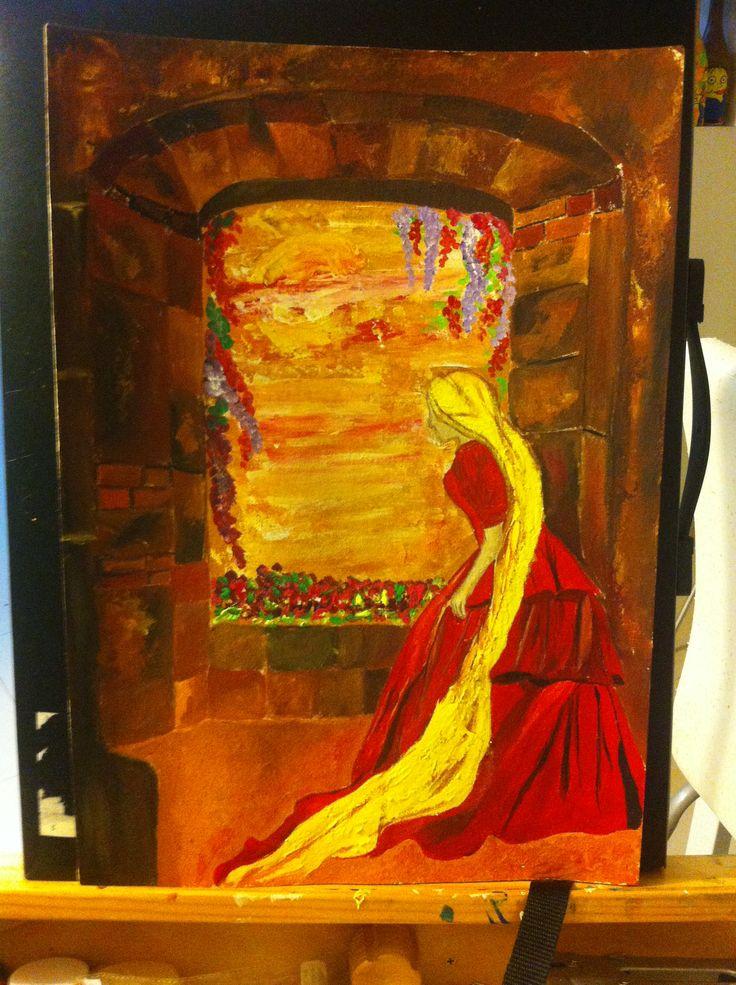 Acrílico Colores cálidos . ·35x 50 cm by Yass.