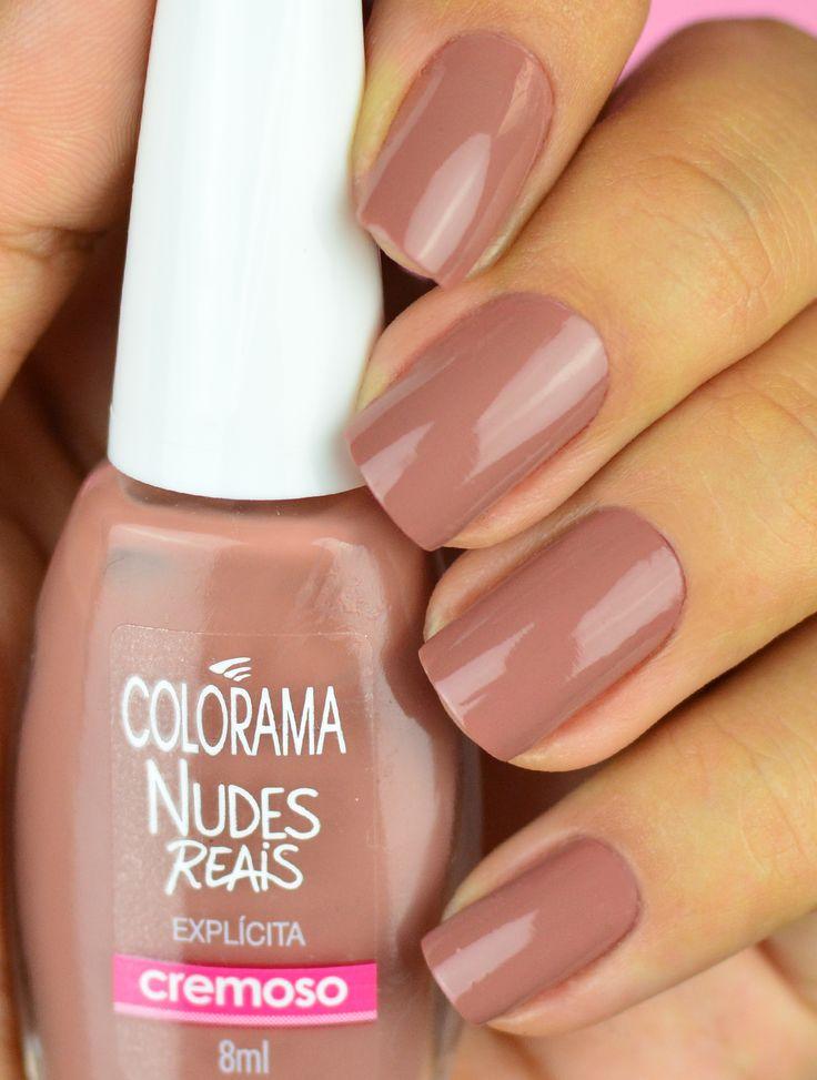 Esmalte Nude para morenas claras. Esmalte lindo da Colorama Nudes Reais Veja todos os esmaltes nas unhas no blog!