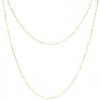 ❤ Mary & Yves - Doppelkette aus Sterlingsilber / 18-karätige   melovely