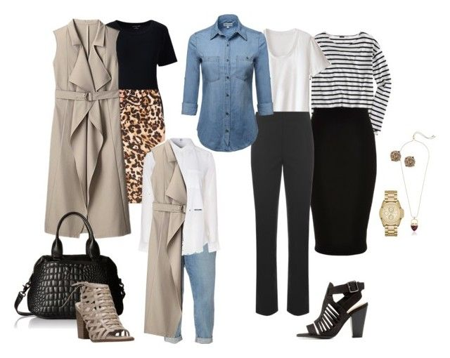 """""""Plus Size Sleeveless Trench Options"""" by pamelaflores-1 ❤ liked on Polyvore featuring Lands' End, Thalia Sodi, NYDJ, Alice & You, J.Crew, River Island, WearAll, Delicious, French Connection and Fergalicious"""