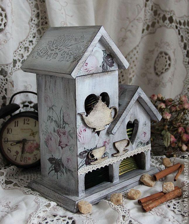 Купить Чайный домик Нежные розы - чайный домик, подарок для дома, шебби шик