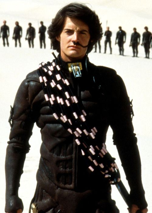 "Kyle MacLachlan as hero Paul Atreides in director David Lynch, 1984 ""Dune""."