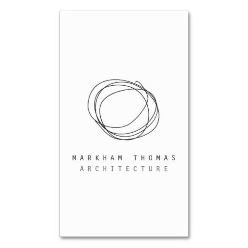 Minimal and Modern Designer Scribble Logo and Business Card Template for architects, writers, bloggers, artists and more - ready to personalize