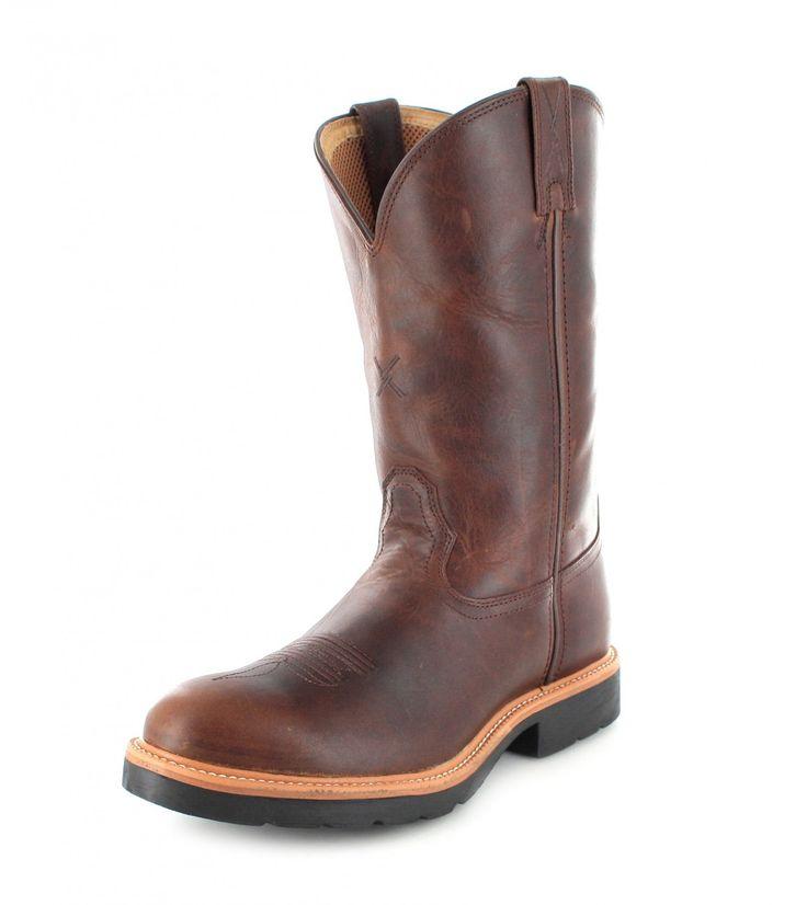 Twisted X Boots Stiefel 1743 Ruff Stock Baun Rot Damen Westernreitstiefel