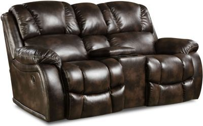 Homestretch Brahma Power Loveseat with Console | Homemakers Furniture