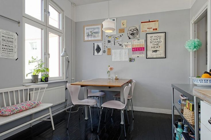 Scandinavian Design: Artistic Clutter in a 550-Square-Foot Apartment | HomeDSGN