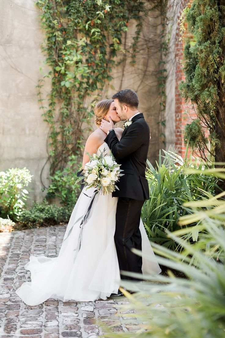 An Elegant Green & White Industrial Georgia Wedding via TheELD.com | Summerour Studio Wedding | Atlanta Wedding | Rustic White Photography